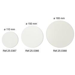 Papiers filtre sans cendre (Lot de 100) : ø 110 mm - ø 150 mm - ø 185 mm