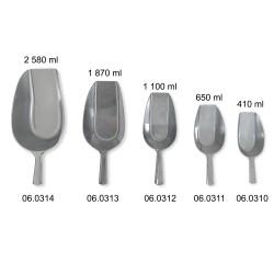 Pelles à fond plat de 410 ml à 2 580 ml