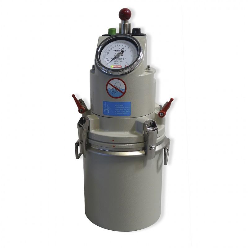 Aéromètre à béton 8 litres à pompage manuel